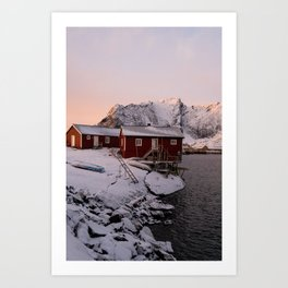 Winter in Lofoten Art Print
