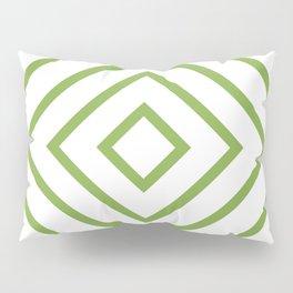 Nested Green Squares Pillow Sham