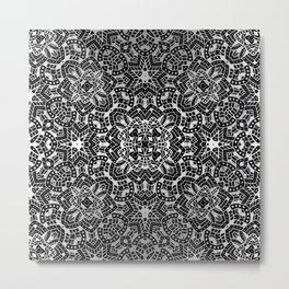 Floral Kaleidoscope G507 Metal Print
