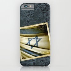 Israel grunge sticker flag iPhone 6s Slim Case