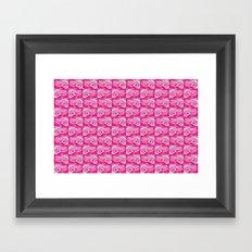 Pink Frog  Framed Art Print