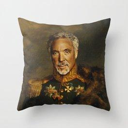Sir Tom Jones - replaceface Throw Pillow