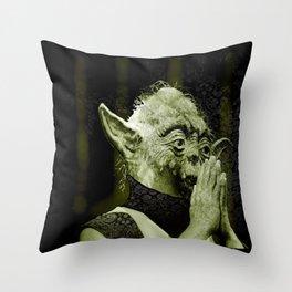 The DalaiYOda Throw Pillow