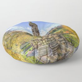 Allan Ramsey And Edinburgh Castle Floor Pillow
