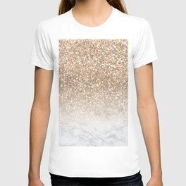 Sparkle - Gold Glitter and Marble T-shirt