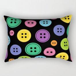 Colorful Rainbow Buttons Rectangular Pillow