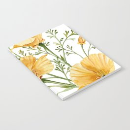 California Poppies - Watercolor Painting Notebook