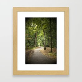 Forest path Framed Art Print
