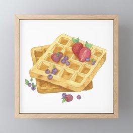 Waffles Framed Mini Art Print