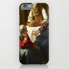Johannes Vermeer - Christ in the House of Martha and Mary iPhone Case