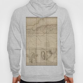Vintage Map Print - 1816 French map of the Barbary Coast Hoody