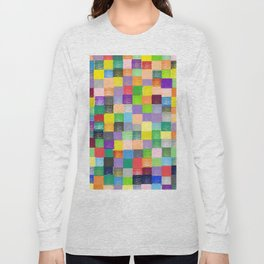 Pixelated Patchwork Long Sleeve T-shirt