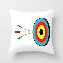 Splitting The Arrow Throw Pillow