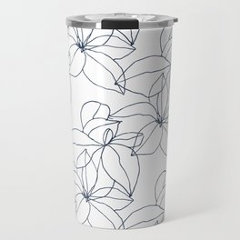 Floral Drawing, Overlap Travel Mug