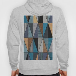 Colorful Concrete Triangles - Blue, Grey, Brown Hoody
