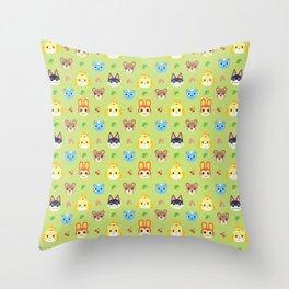 Animal Crossing - Green Throw Pillow