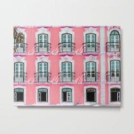 pink european architecture Metal Print
