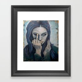 Piss Off Framed Art Print