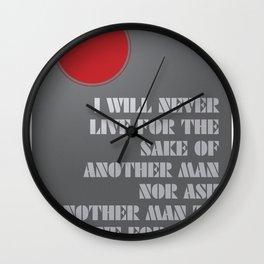 John Galt's pledge - Grey Wall Clock
