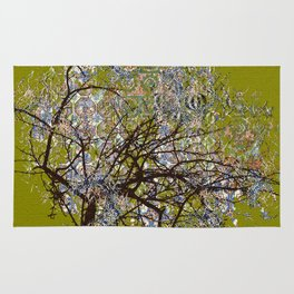 Spring Tree Abstract digital art  composition Rug