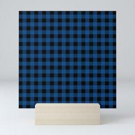 Plaid (blue/black) Mini Art Print