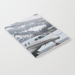 Private Jet & Snowy Mountains Notebook