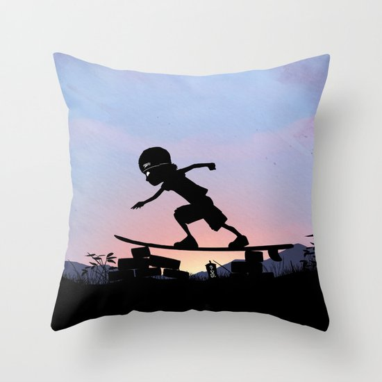 Silver Surfer Kid Throw Pillow