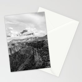 A Ledge on the Tonto Trail - The Grand Canyon - B&W Stationery Cards