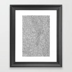 2D Pizza Framed Art Print