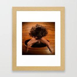 6171-KD Nude Art Model Sitting On Mirror Looking Down Framed Art Print