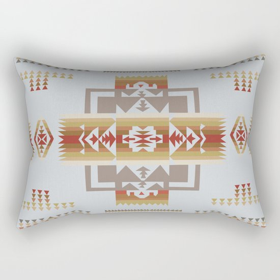 American Native Pattern No. 11 Rectangular Pillow