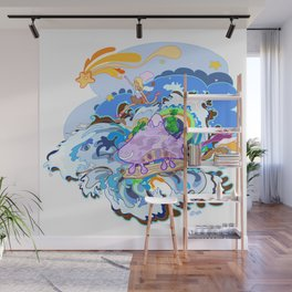 Catch me Wall Mural
