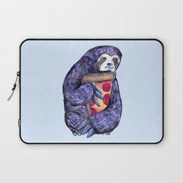 purple sloth loves pizza Laptop Sleeve