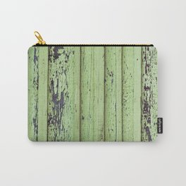 Rustic mint green grunge wood panels Carry-All Pouch