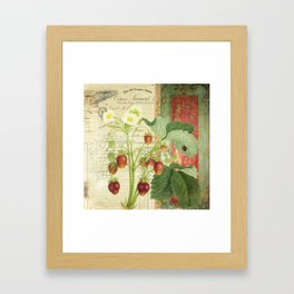 Fraises à la Crème Framed Art Print
