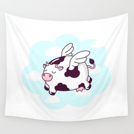 Flying Cow Wall Tapestry
