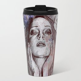 The Withering Spring: Wine (nude tattooed girl with flowers) Travel Mug