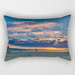Sunrise Sun Rays Rectangular Pillow