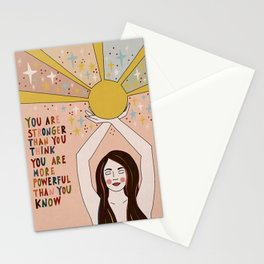 Stronger than you think Stationery Cards