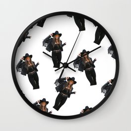 Vintage Cowgirl Wall Clock
