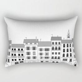 Italian city drawing Rectangular Pillow