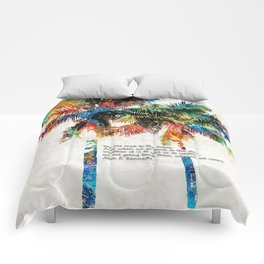 Colorful Palm Trees - Returning Home - By Sharon Cummings Comforters