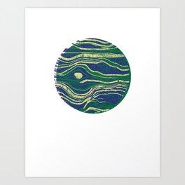 Blue Jupiter Art Print