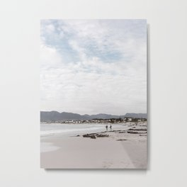 surfing in the Capetown beach area | simplistic white and blue coast South Africa photography print Metal Print