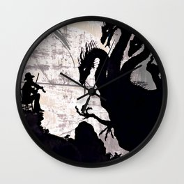 Fiddler Fighting the Hydra Wall Clock