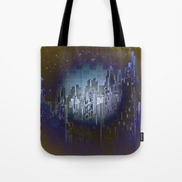 Walls in the Night - UFOs in the Sky Tote Bag