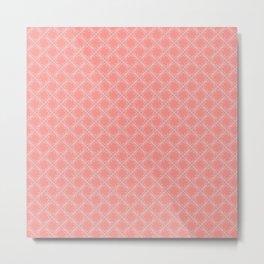 Original Handmade Pattern - Coral Olive Branch Metal Print