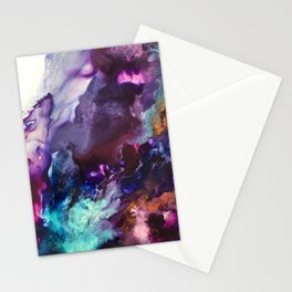 Expressive Flow 1 - Mixed Media Pain Stationery Cards