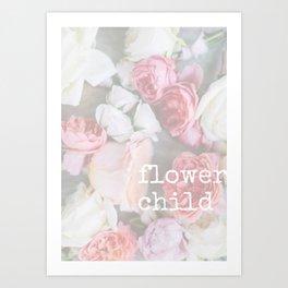 flower child Art Print