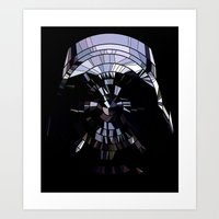 vader Art Prints featuring Vader by Messypandas